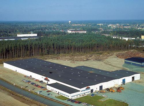 Ljungby maskins fabrik i utkanten av Ljungby, i nära anslutning till E4:an.