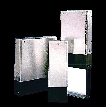 Väggmonterat eller fristående väggsamlingsskåp i galvat stål