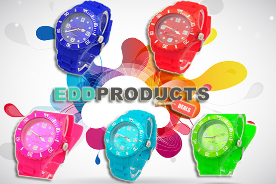 £1 instead of £14.99 (with Electrical Discounts Direct) for a silicone fashion watch in a choice of colour - look stylish in time and save 93%