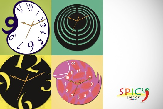 £24 instead of up to £69.99 (from Spicy Decor) for a designer wall clock in a design of your choice – spice up your walls & save up to 66%