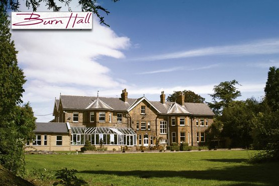 £49 for 1 night or £119 for a 2 night  break for two + 3 course meal & a bottle of wine at Burn Hall Hotel, Yorkshire