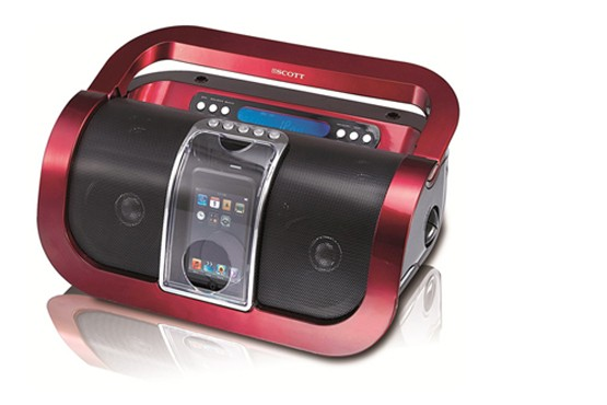 £34.99 for a Scott portable iPod speaker dock and FM radio - bring the noise wherever you go + FREE DELIVERY