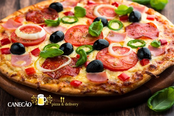 £16 instead of up to £32.50 for a pizza feast for 2 including a large pizza each and dessert pizza to share at Canecão, York Way – save up to 51%