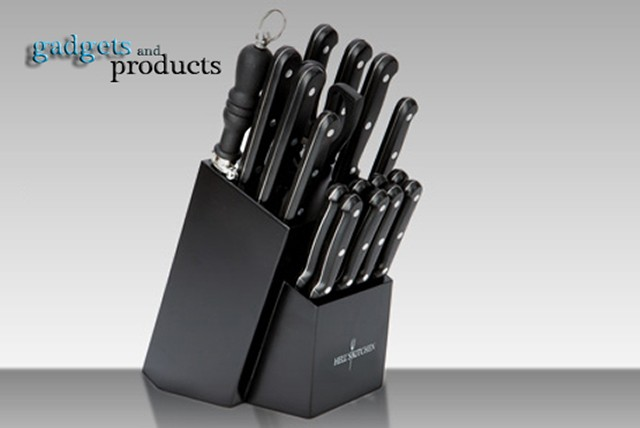 £21.99 instead of £69.99 (from Gadgets & Products) for a Hell's Kitchen 18 piece knife block set - save 69%