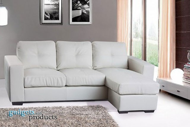 £499 instead of £1119.95 (from Gadgets & Products) for a 100% bonded leather, 3 seater corner sofa in black or white - save 55%