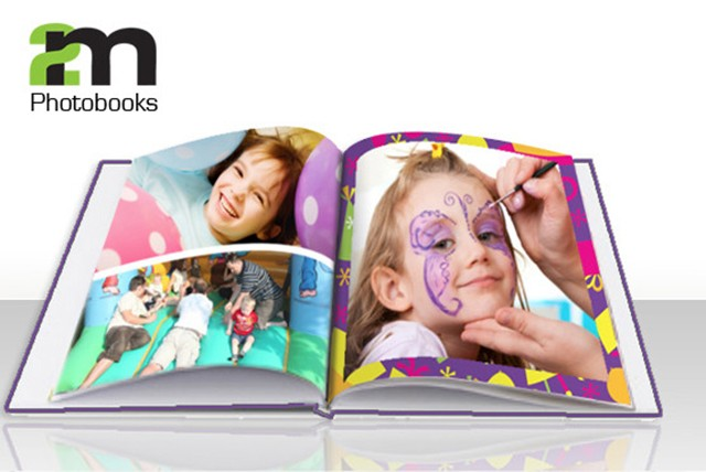 £10 for a 20 page A4 hardback portrait photo book with printed cover, or £15 for 40 pages, or £23 for 80 pages at 2M Photobooks - save up to 69%