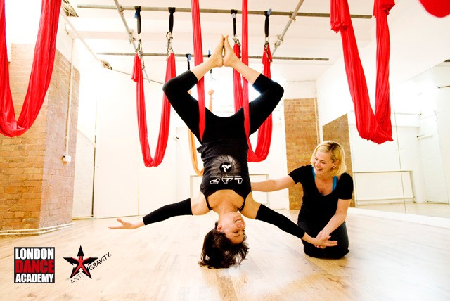 £35 for three 70 minute AntiGravity Yoga classes or £65 for six at the London Dance Academy, Clerkenwell – save up to 53%