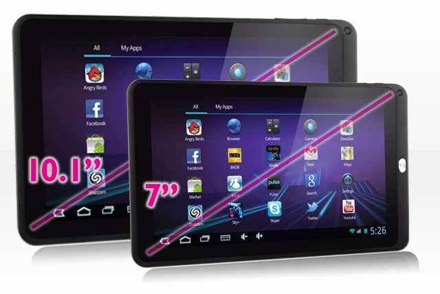 £69.99 (from Time2) for a 7 inch Android Tablet, or £129.99 for a 10.1 inch tablet with pouch and stylus – get connected and save up to 63%