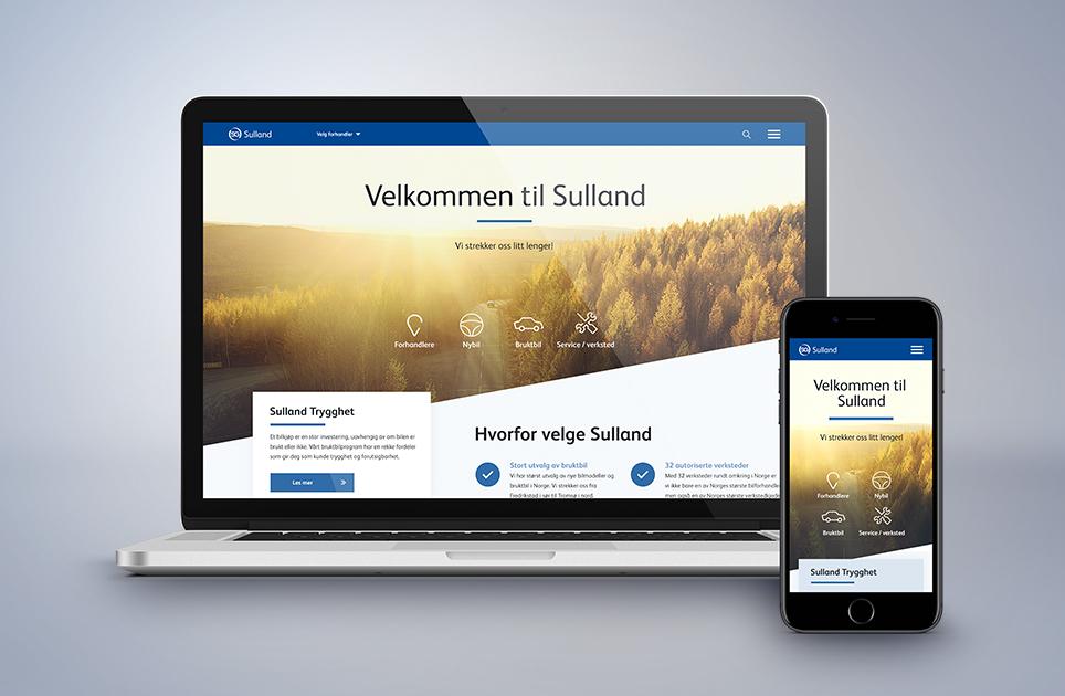 Nye nettsider for Sulland Gruppen