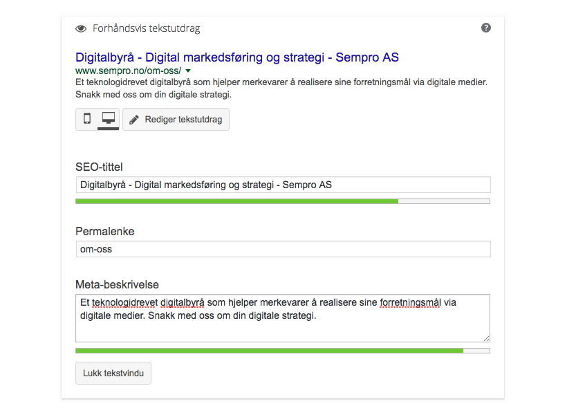 Meta data seo optimalisering
