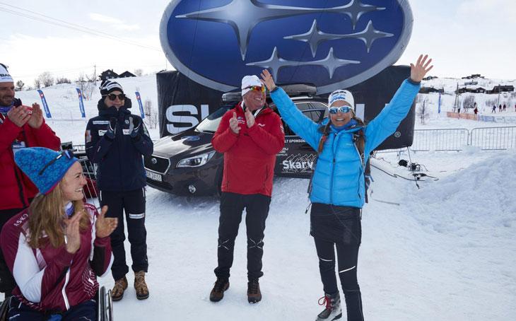 Fornøyd vinner av Subarubilen 2017