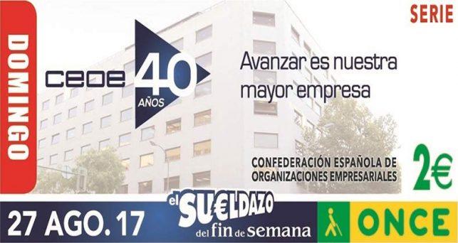 la-once-dedicara-cupon-del-proximo-domingo-la-ceoe-40-aniversario