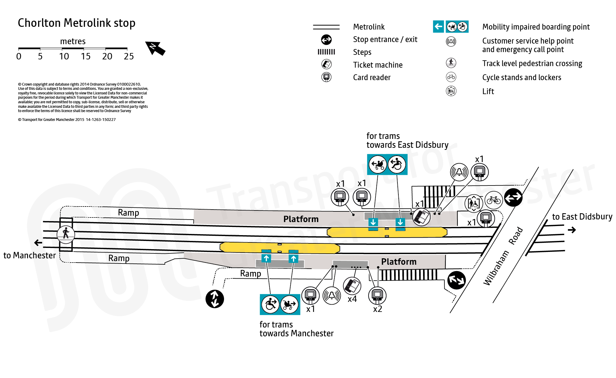 Stop map for Chorlton tram stop