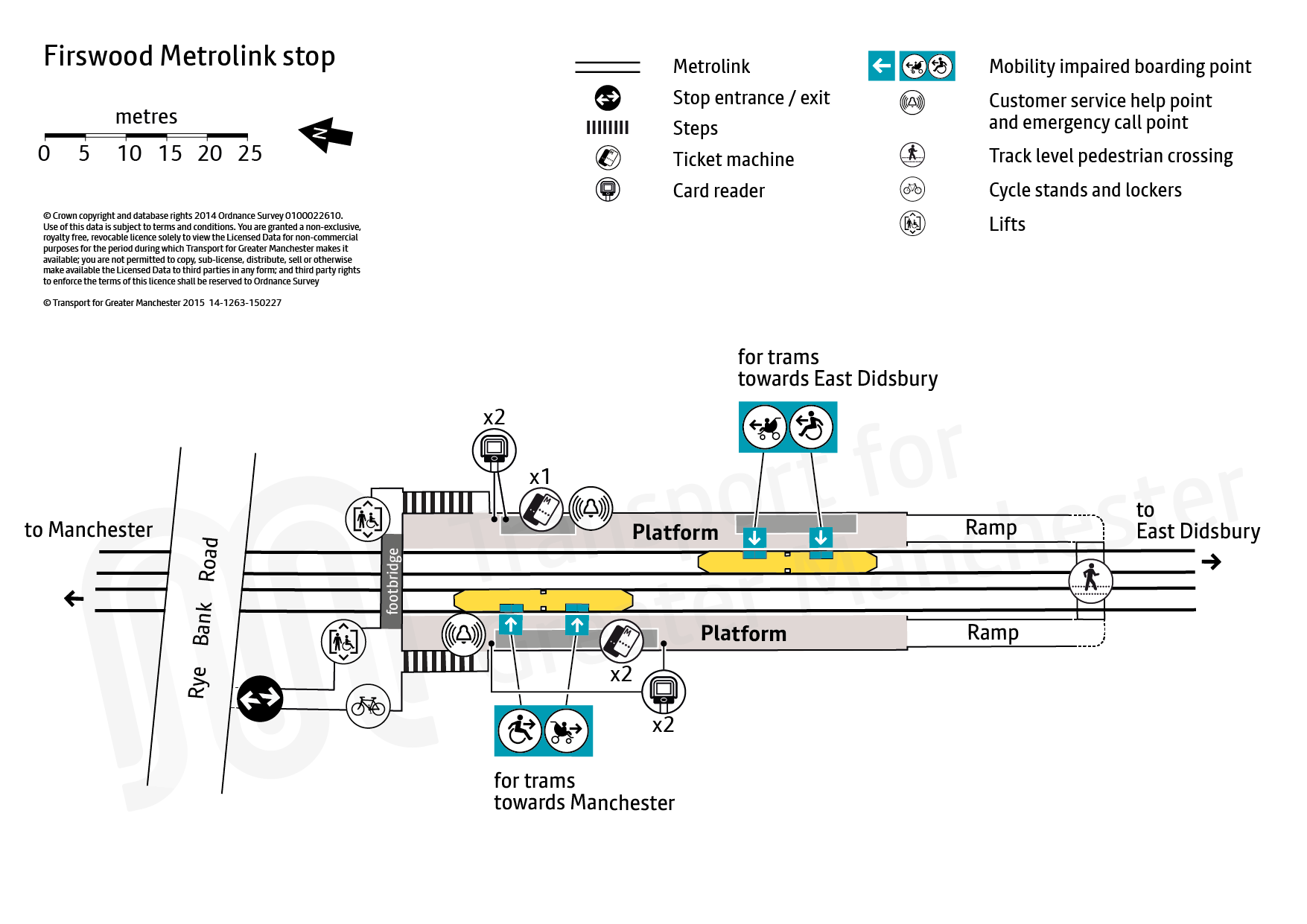 Firswood tram stop map Transport for Greater Manchester
