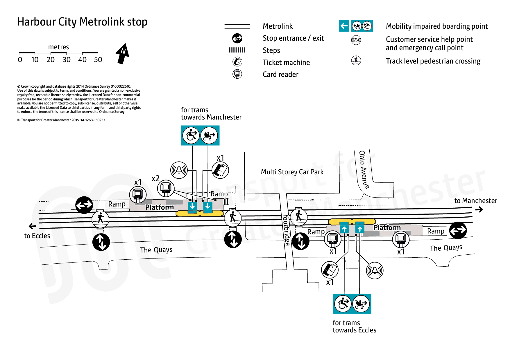 Stop map for Harbour City tram stop