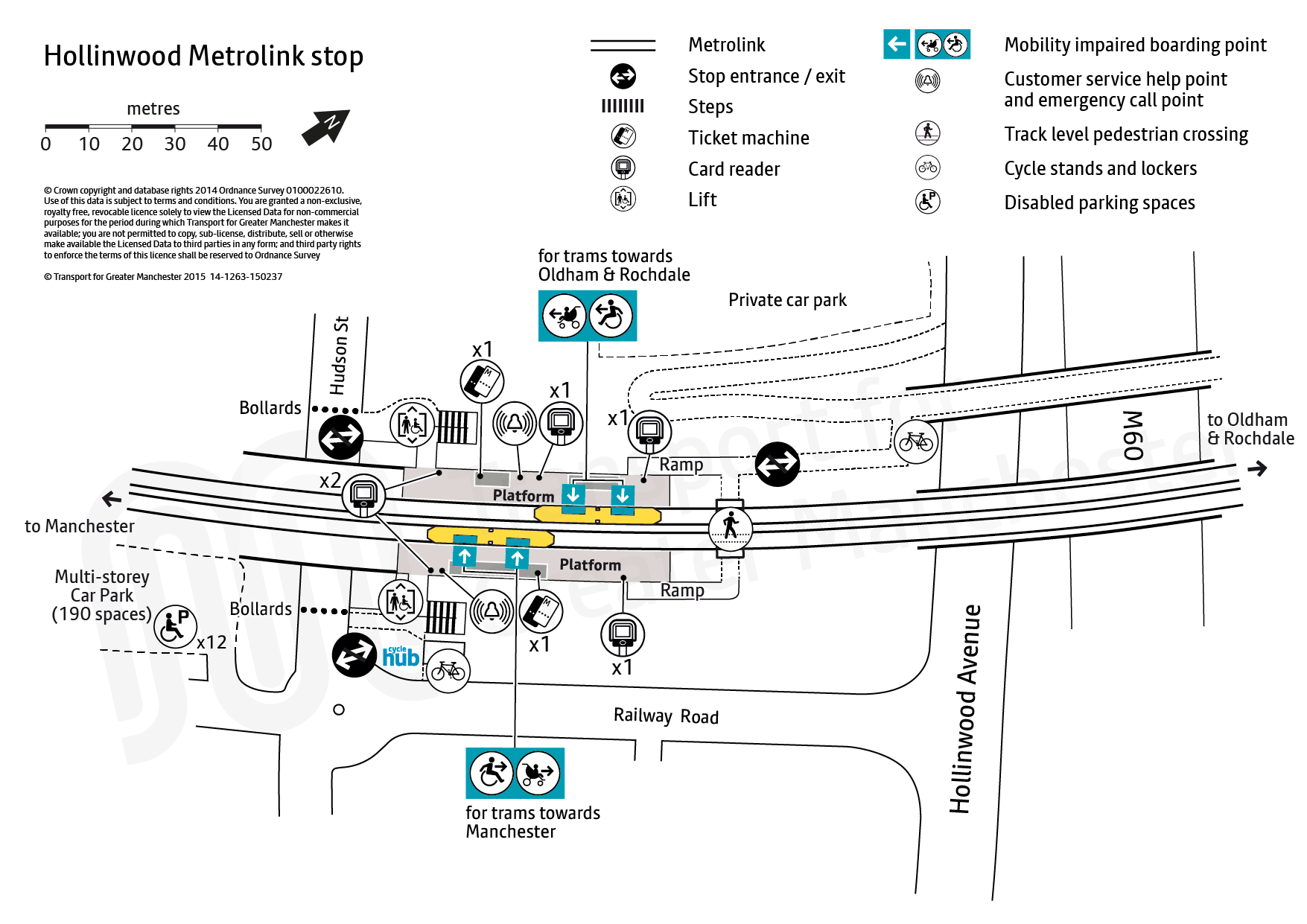 Stop map for Hollinwood tram stop