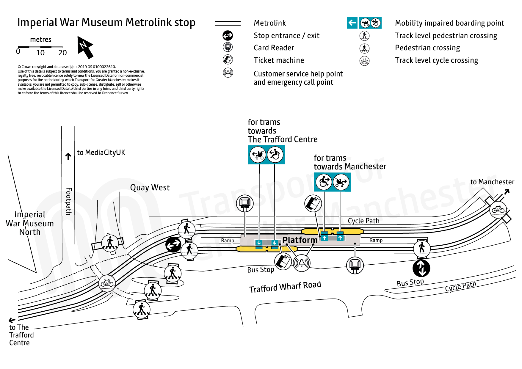 Stop map for Imperial War Museum tram stop
