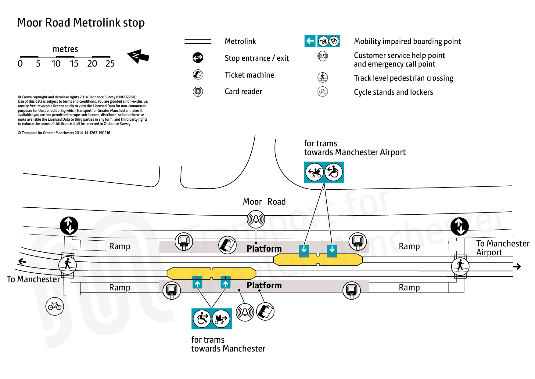 Stop map for Moor Road tram stop