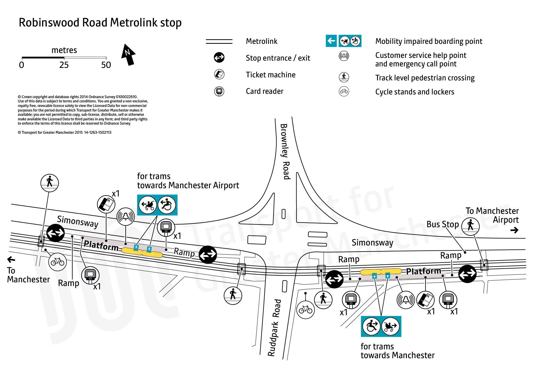 Stop map for Robinswood Road tram stop