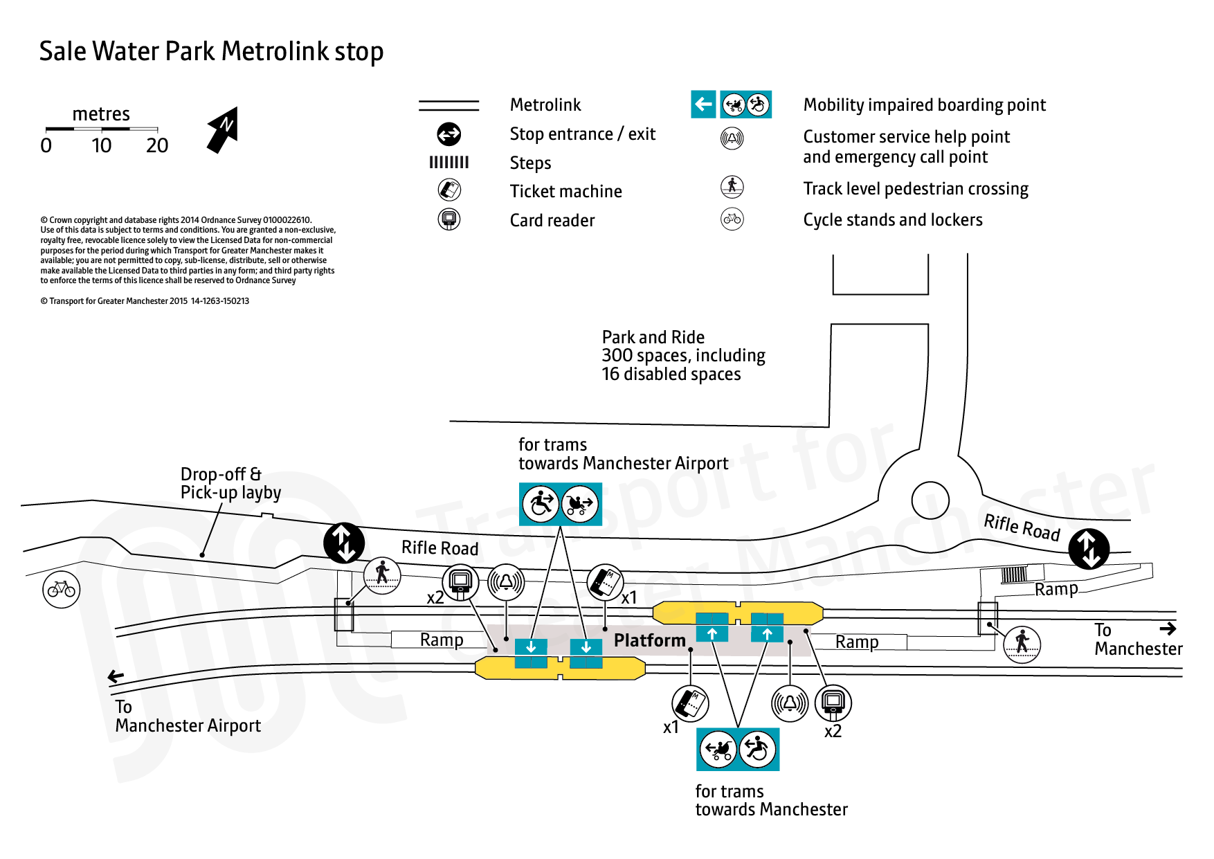 Stop map for Sale Water Park tram stop