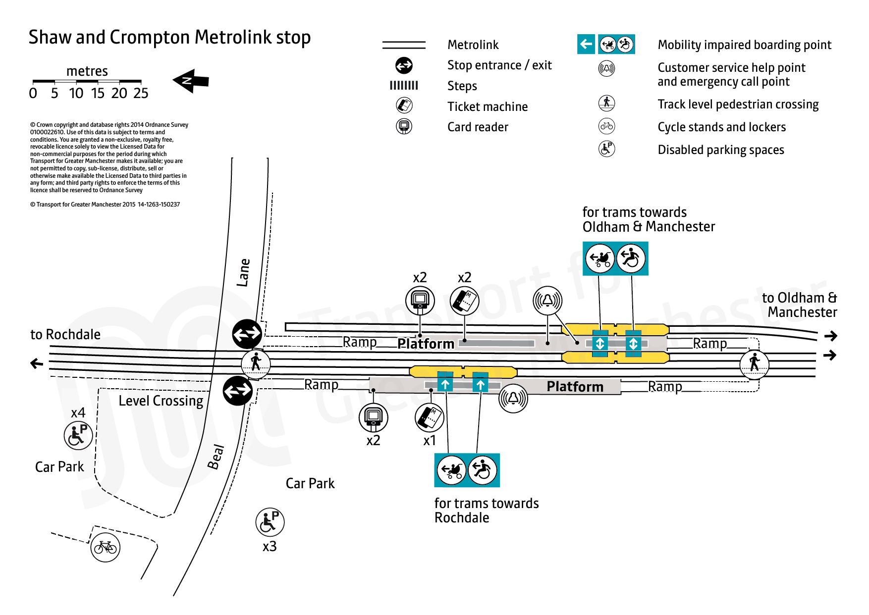 Stop map for Shaw and Crompton tram stop