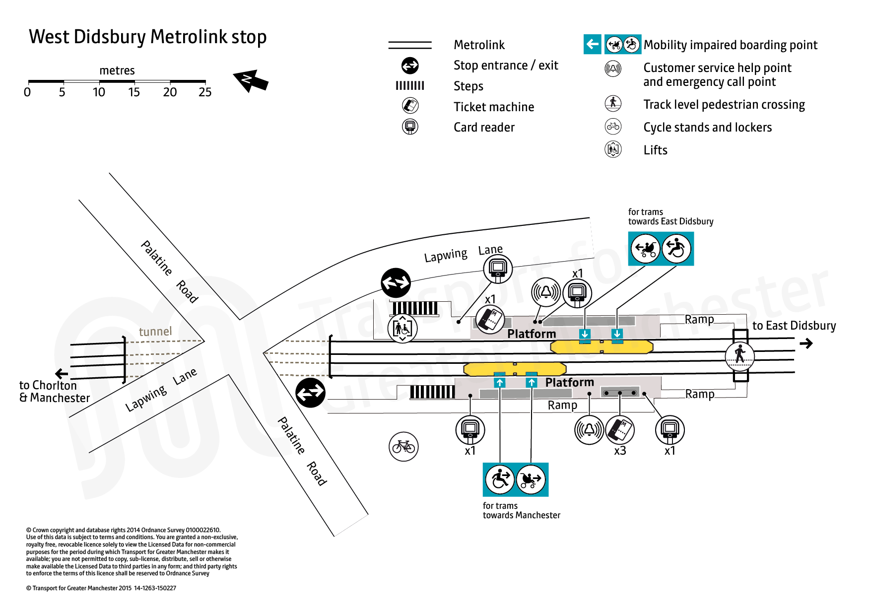 West Didsbury tram stop map Transport for Greater Manchester