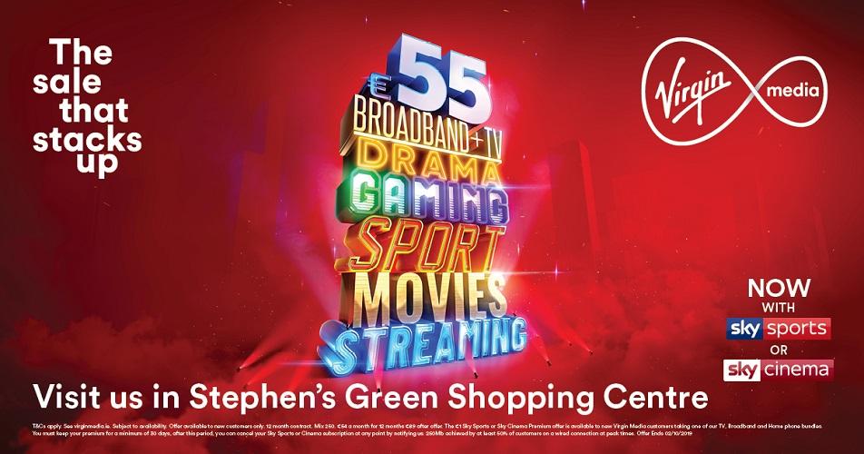 Virgin Media   Stephens Green Shopping Centre  