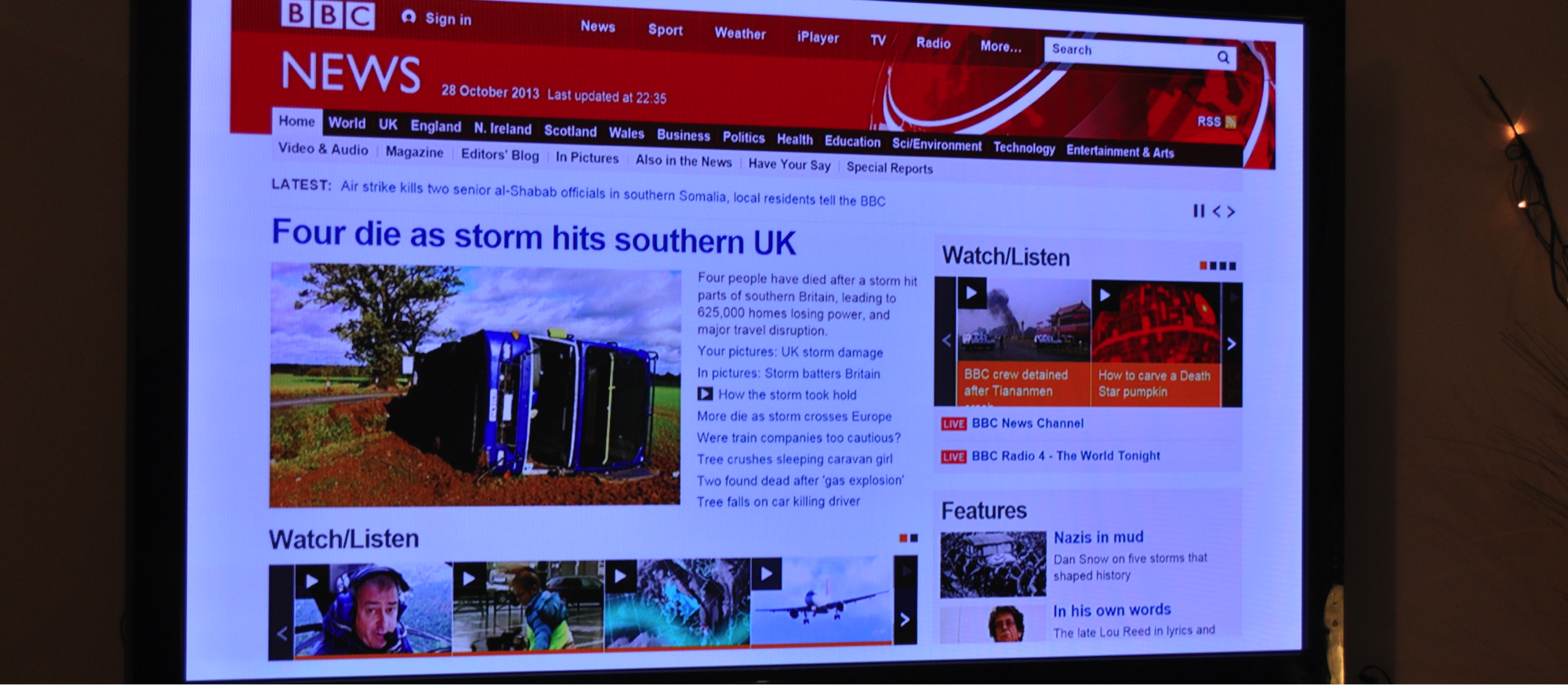 BBC News on an Xbox 360