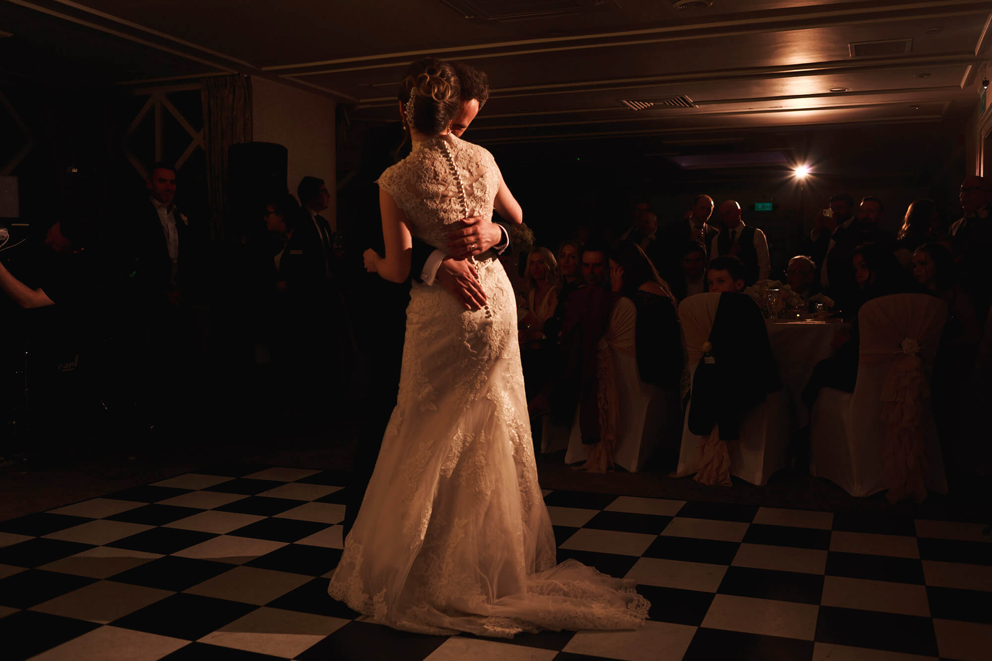 romantic and intimate first dance at crabwall manor