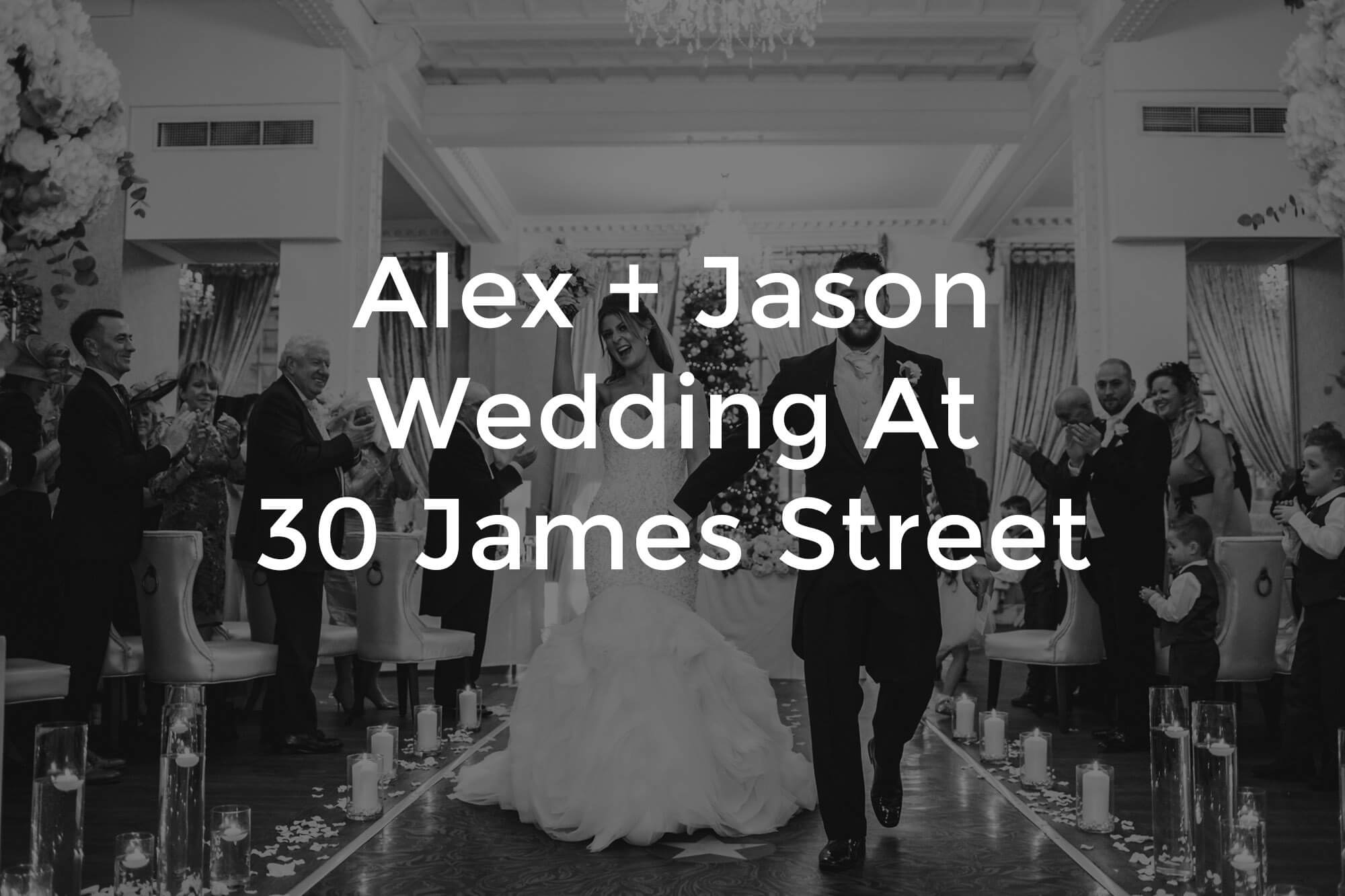 title for alex and jason wedding