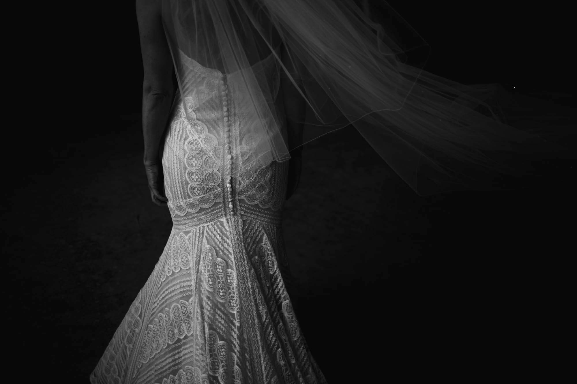 back of a wedding dress in cheshire
