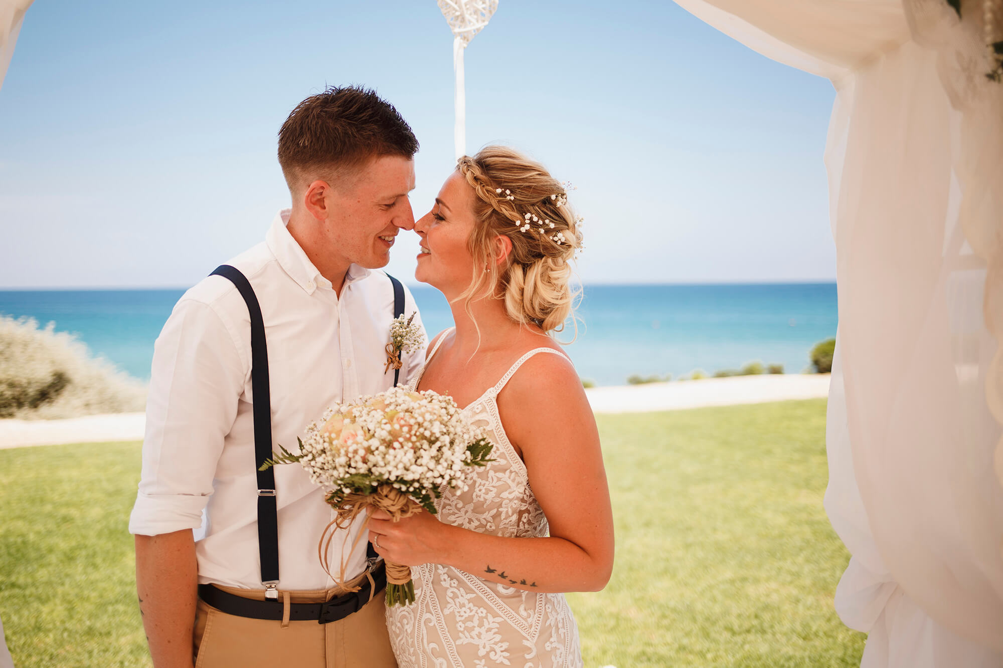 cyprus beach wedding at pernera