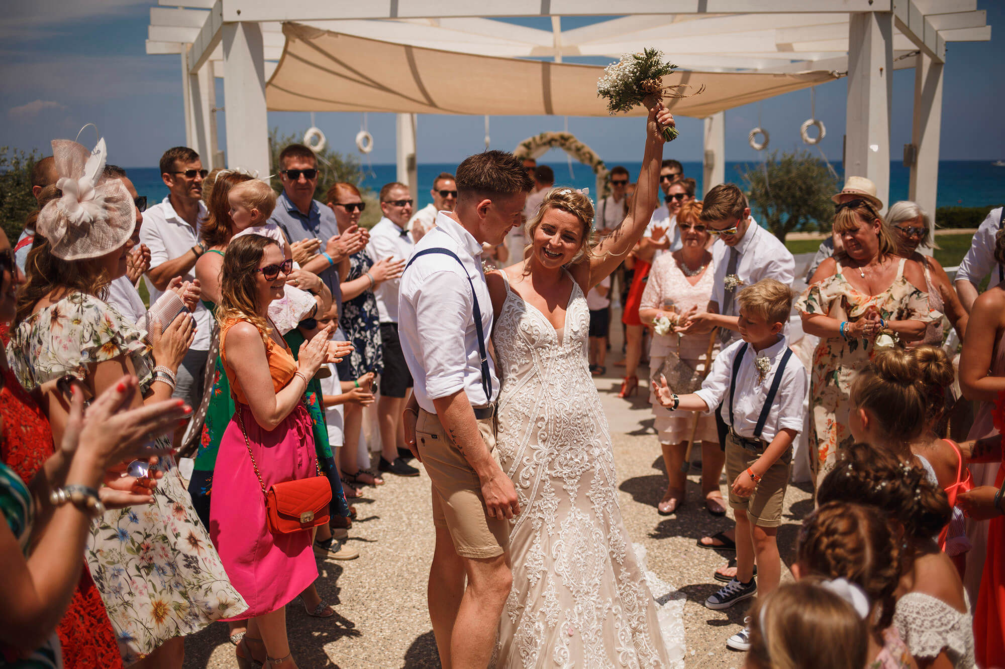 couple celebrate wedding in Cyprus
