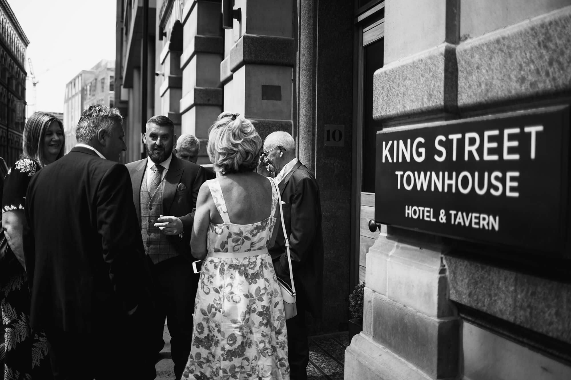 Wedding Party Outside Kings Street Town House