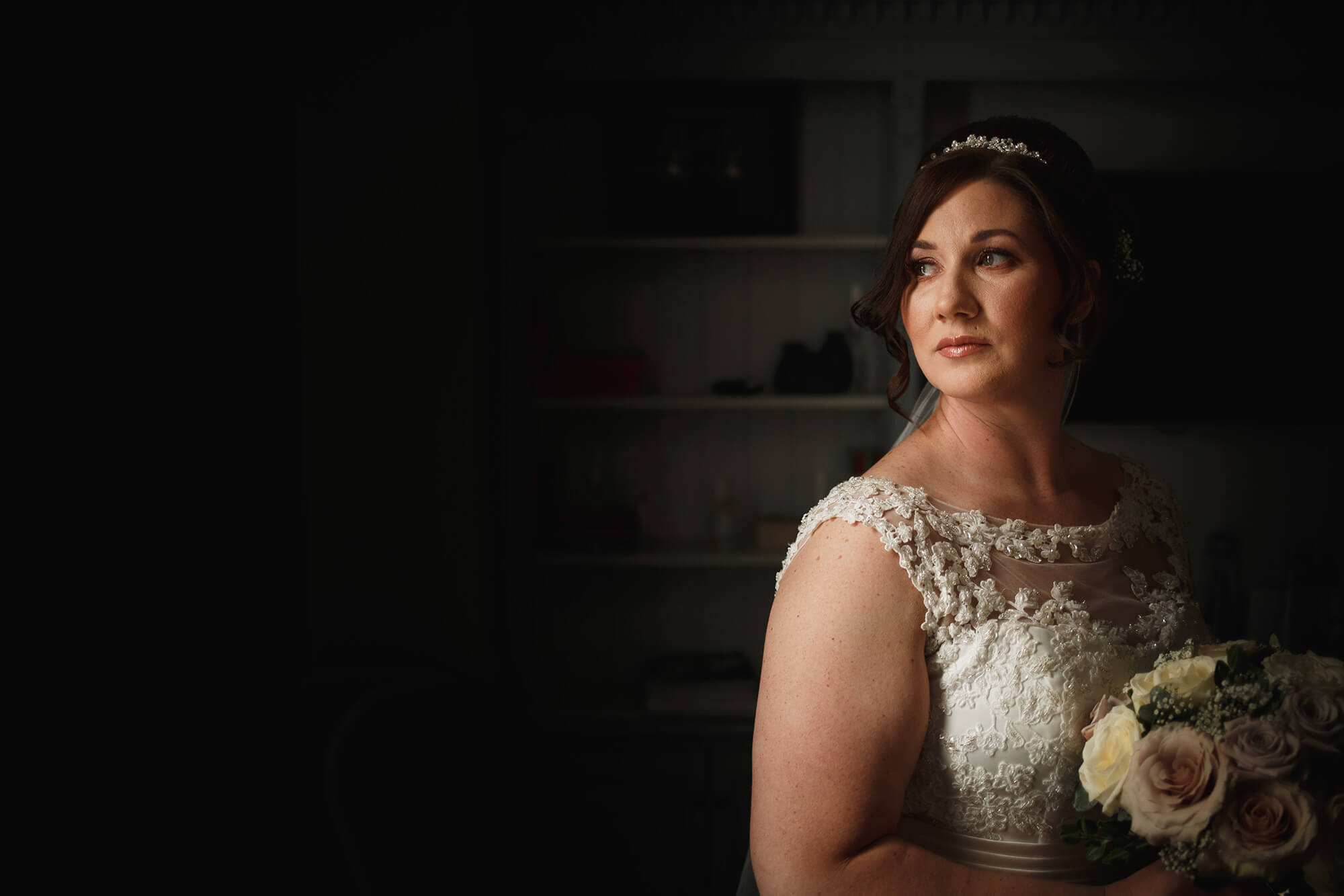 beautiful bride at Manchester wedding