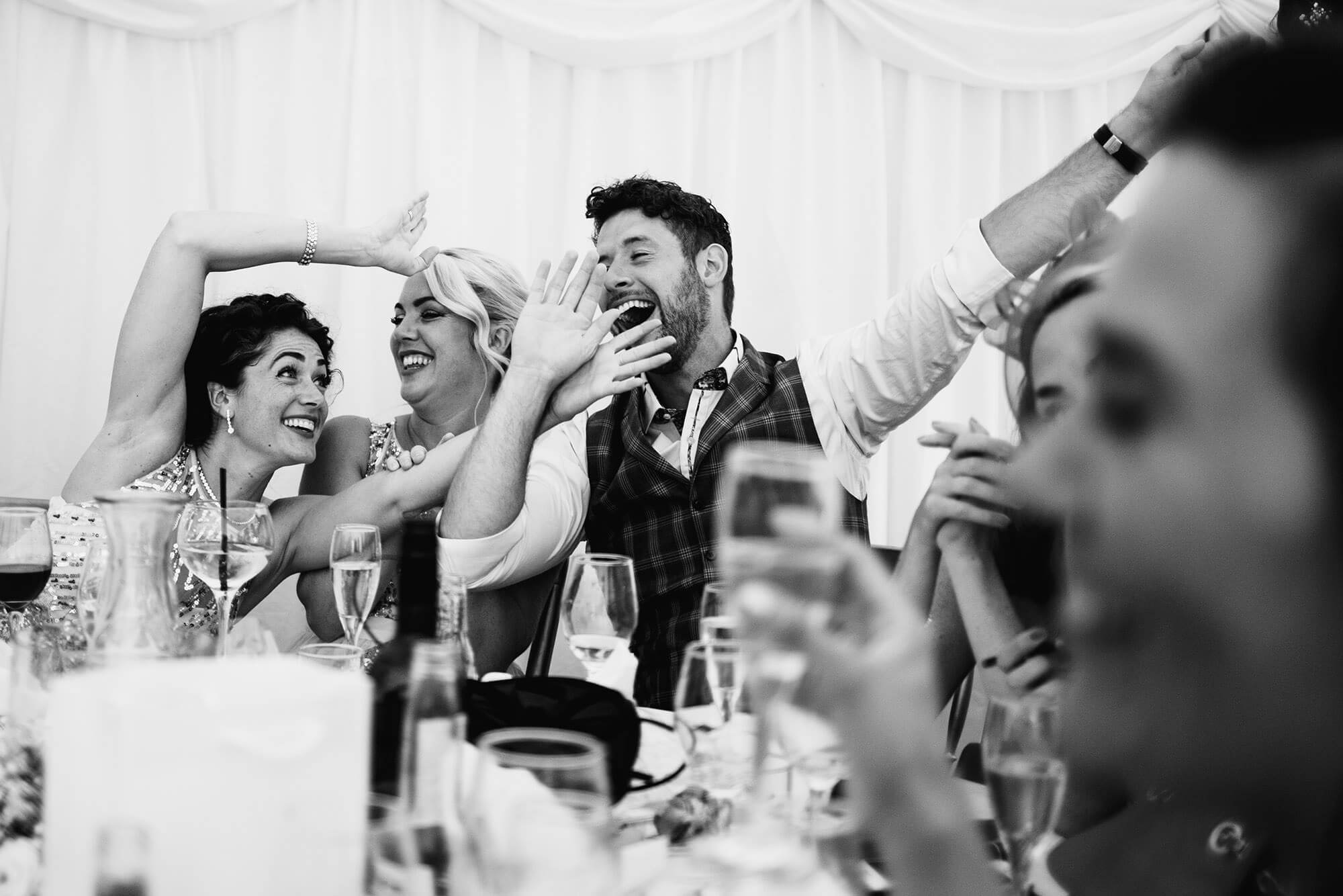 guests having fun at stamford wedding