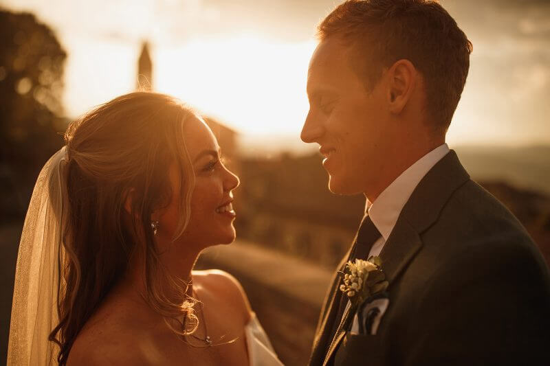 Bride and Groom In Tuscany Light
