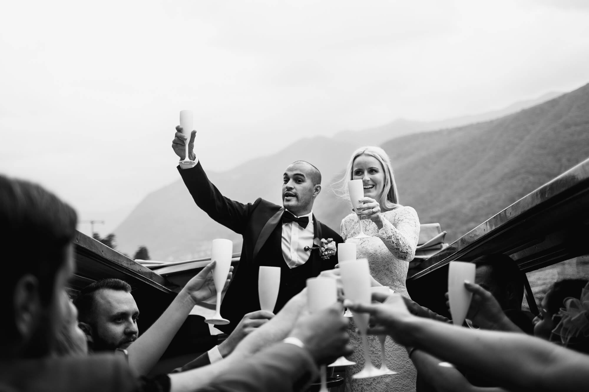 wedding celebrations on Lake Como