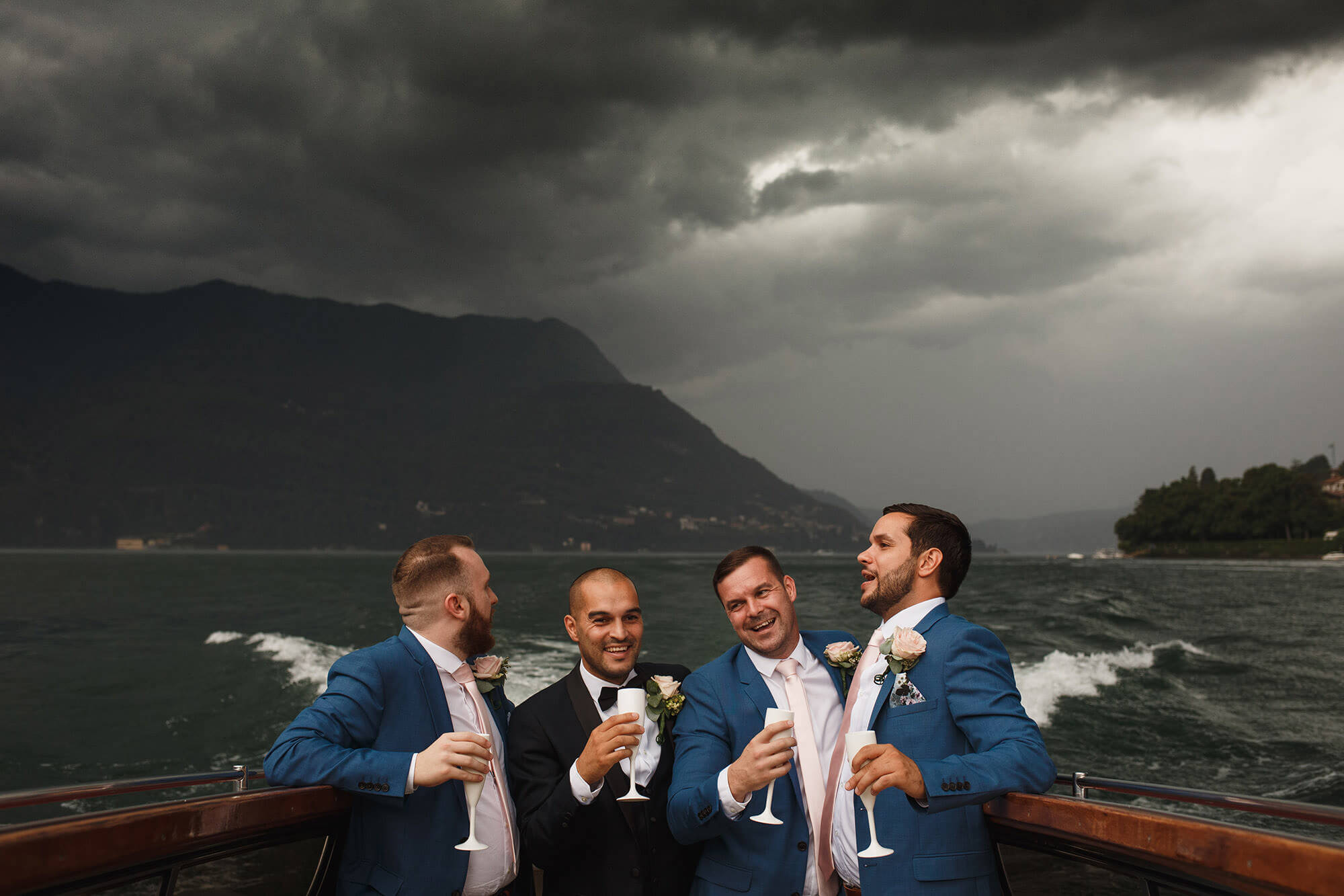 the guys on Lake Como wedding