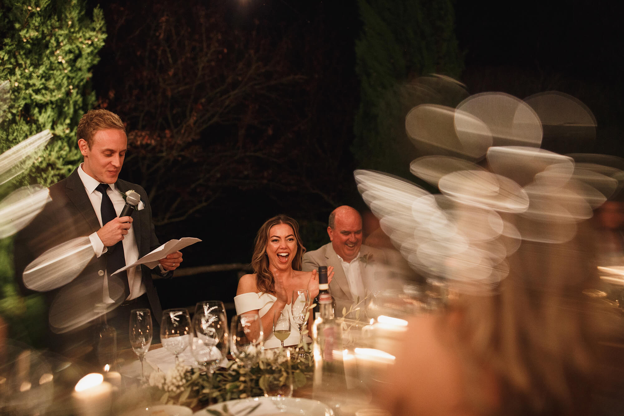 grooms speech in tuscany villa