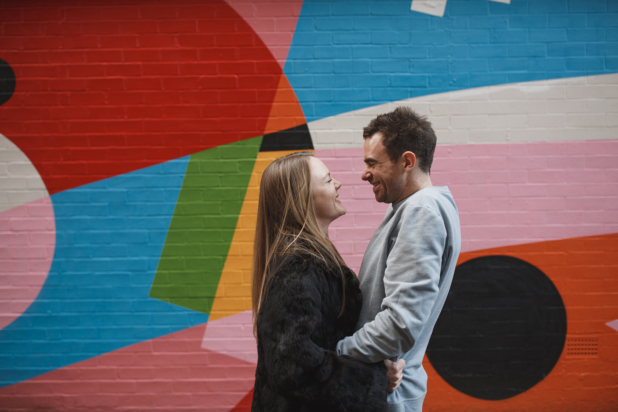 couple in love during Manchester shoot