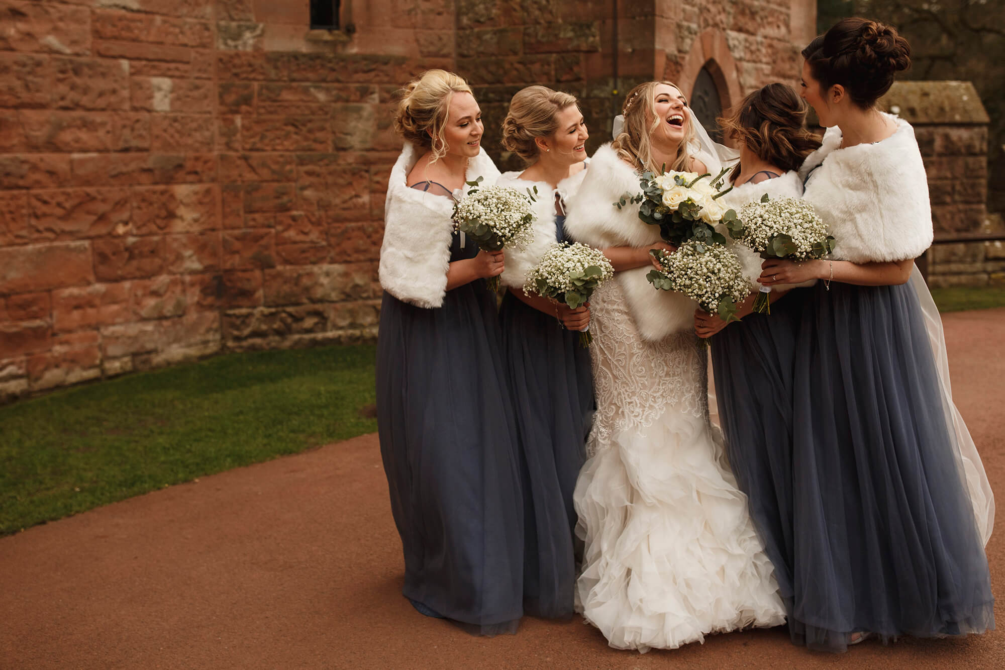 bride and her bridesmaids Tarporley
