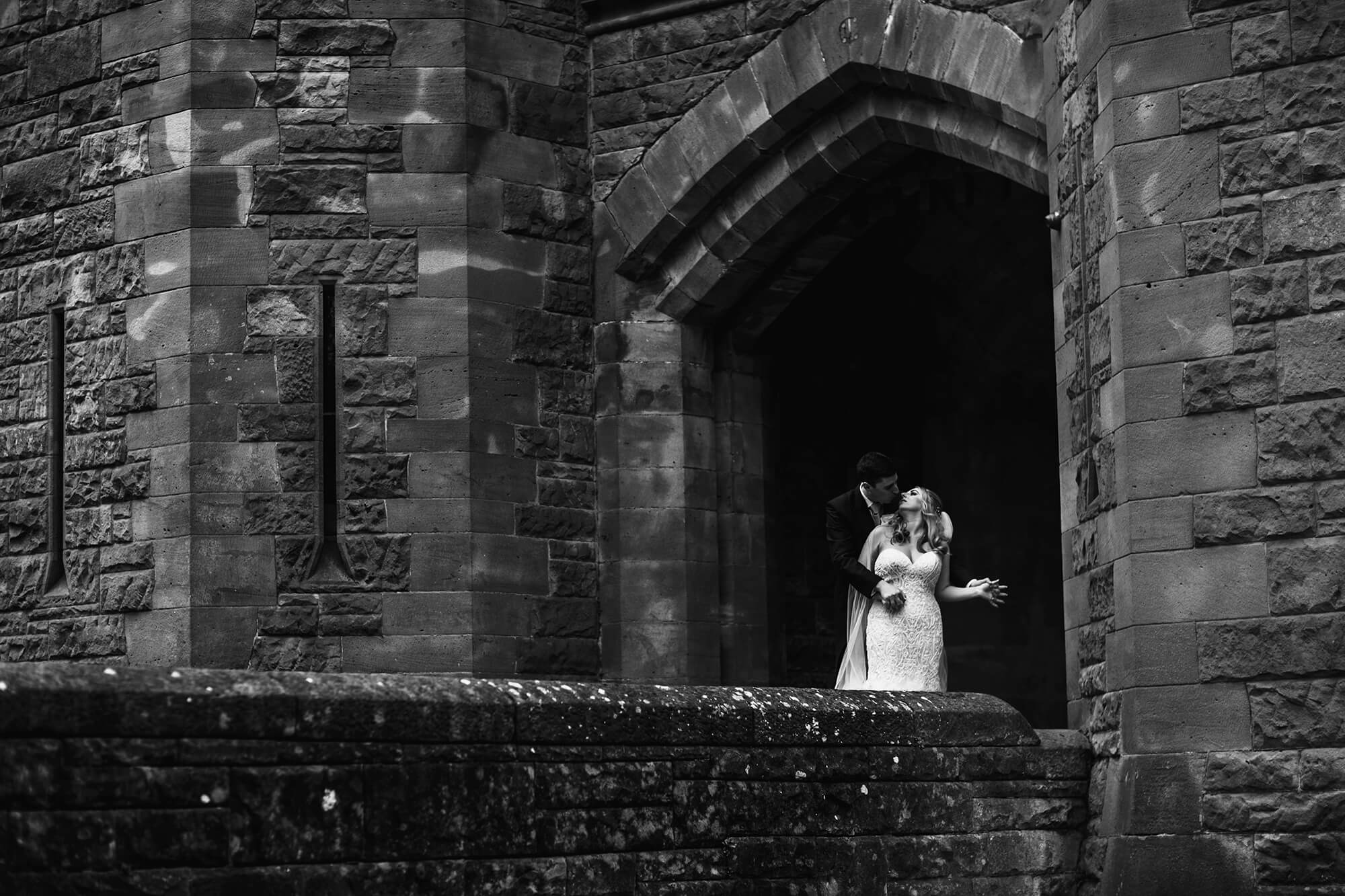Peckforton Castle arch photo