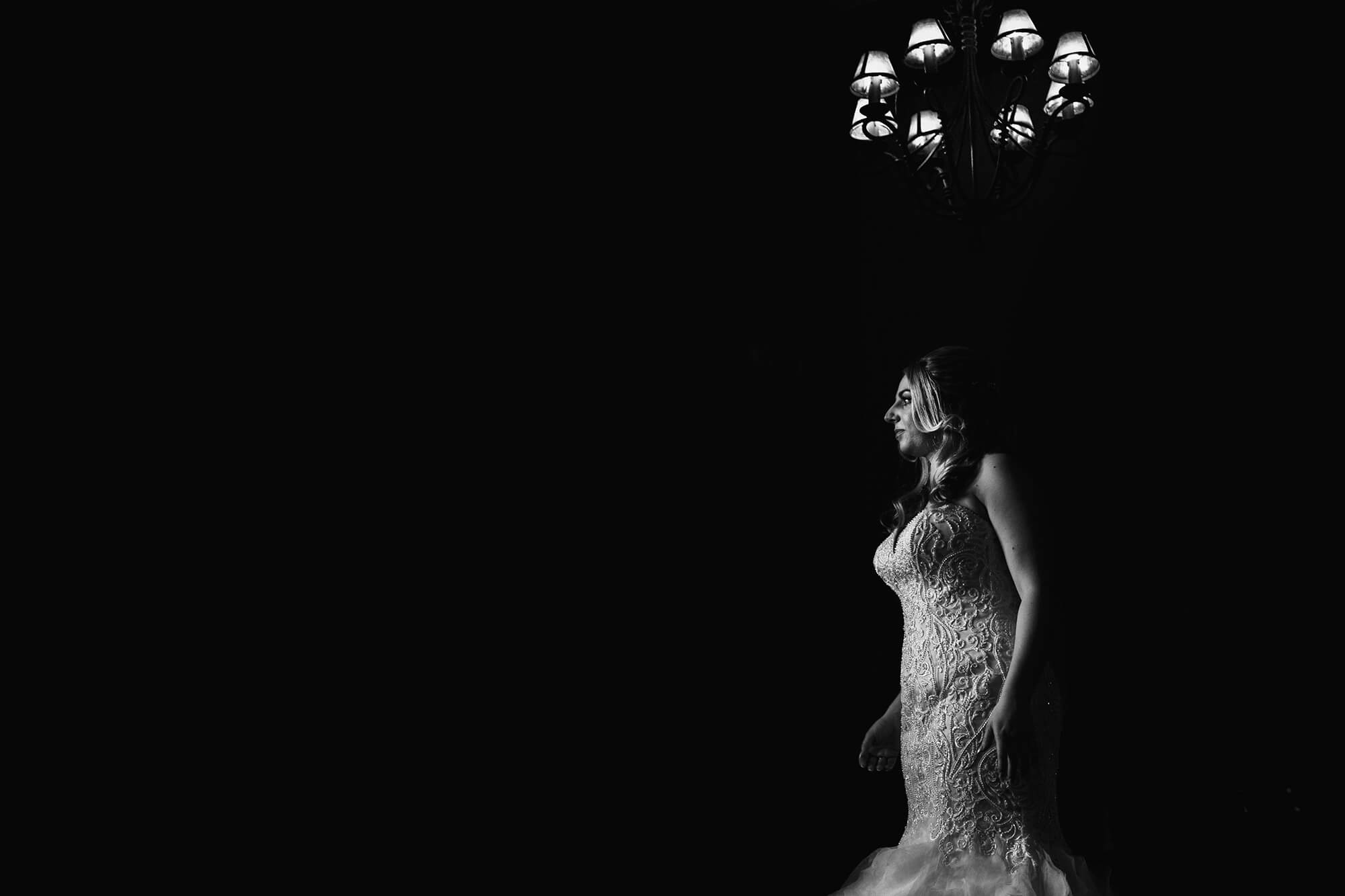 Peckforton Castle bride in dress