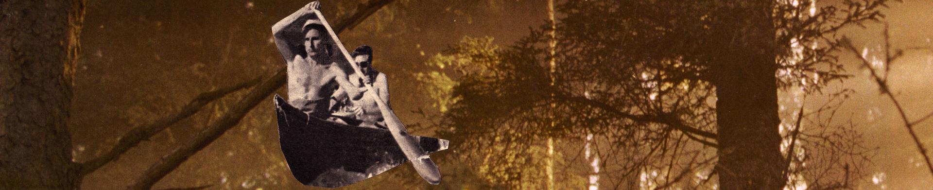 Piragua en el bosque