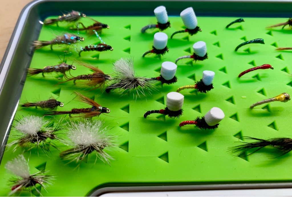 Trout Fishing Flies X4 Goldhead Mayfly Nymph Fly Size 14