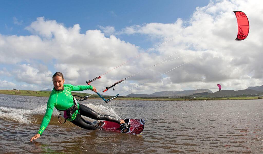 kitesurfing water start