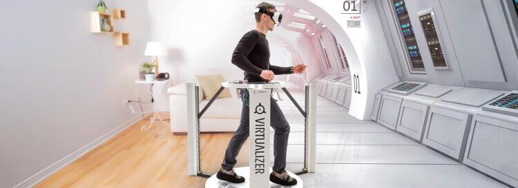 zábava ve virtuální realitě ve virtualizeru