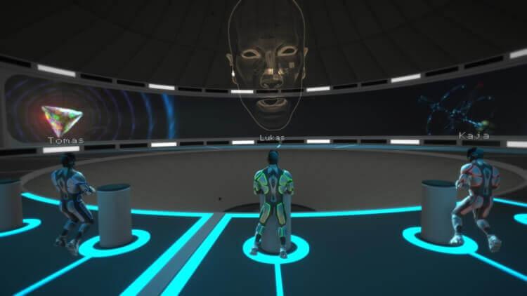 zaznam z unikove hry ve virtualni realite ve vesmiru