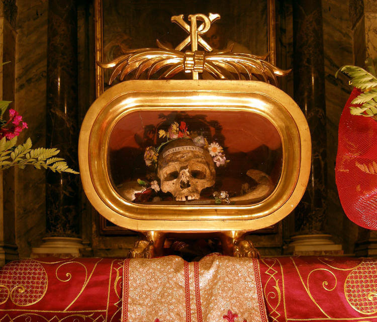 ostatky svateho valentyna v Rime
